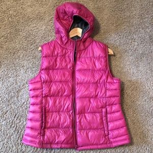Pink Down Puffer Vest